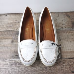 Geox Respira | White Italian Leather Loafers